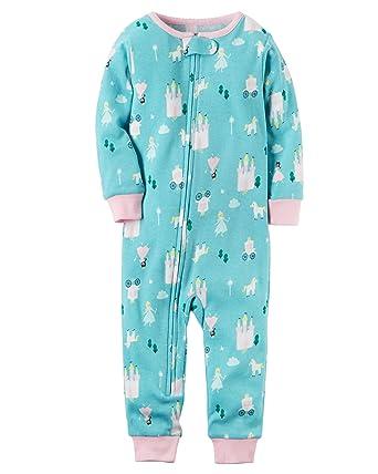 12f635adf241 Carter s Baby Girls  1-Piece Snug Fit Cotton Footless Pajamas ...