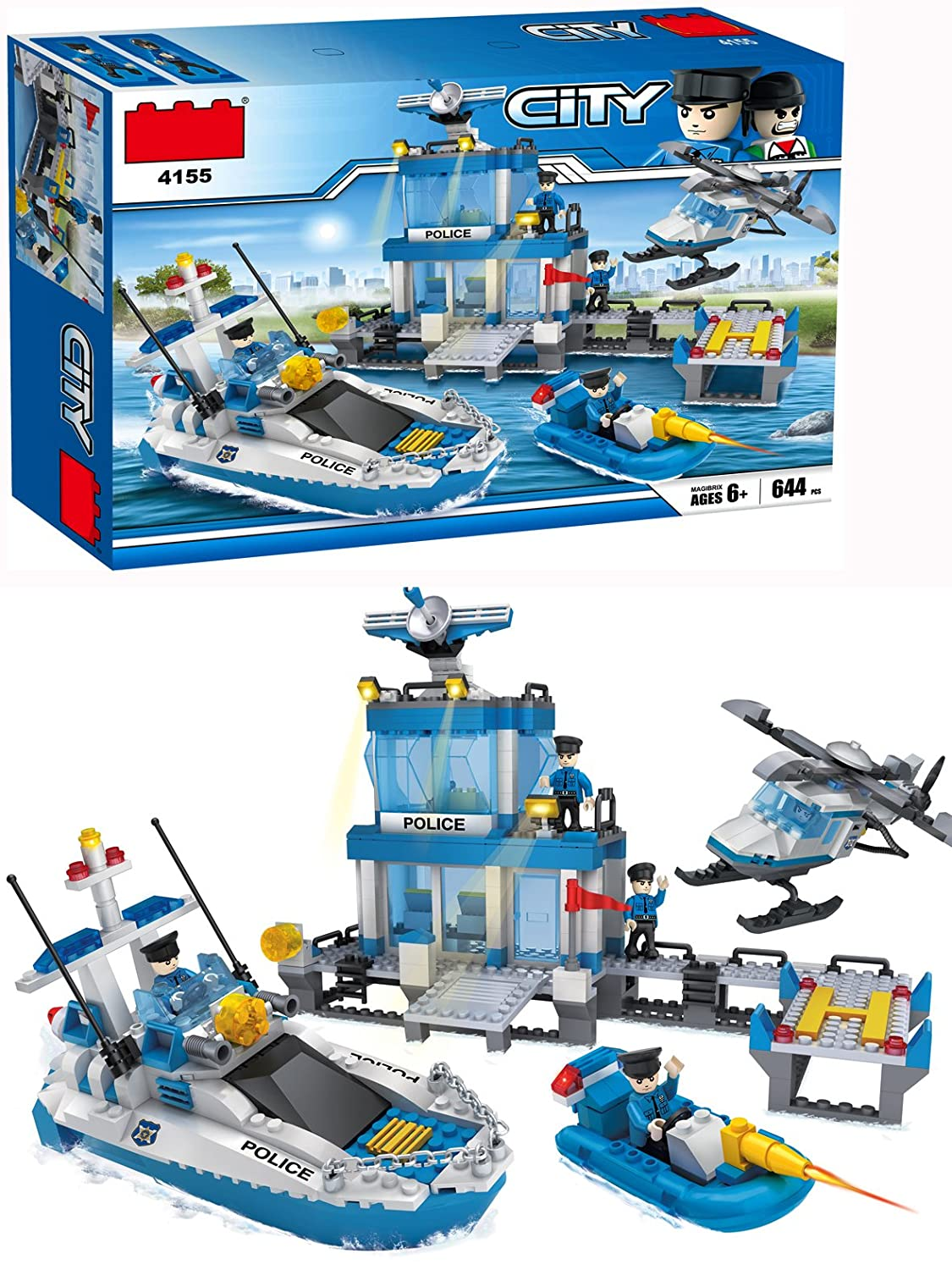 664 pics Xtreme Free Building Toys-Maritime Police Agency