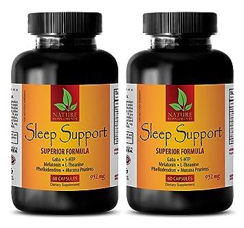 Natural Energy Supplement - Sleep Support Superior Formula 952 Mg - melatonin Capsules - 2 Bottles