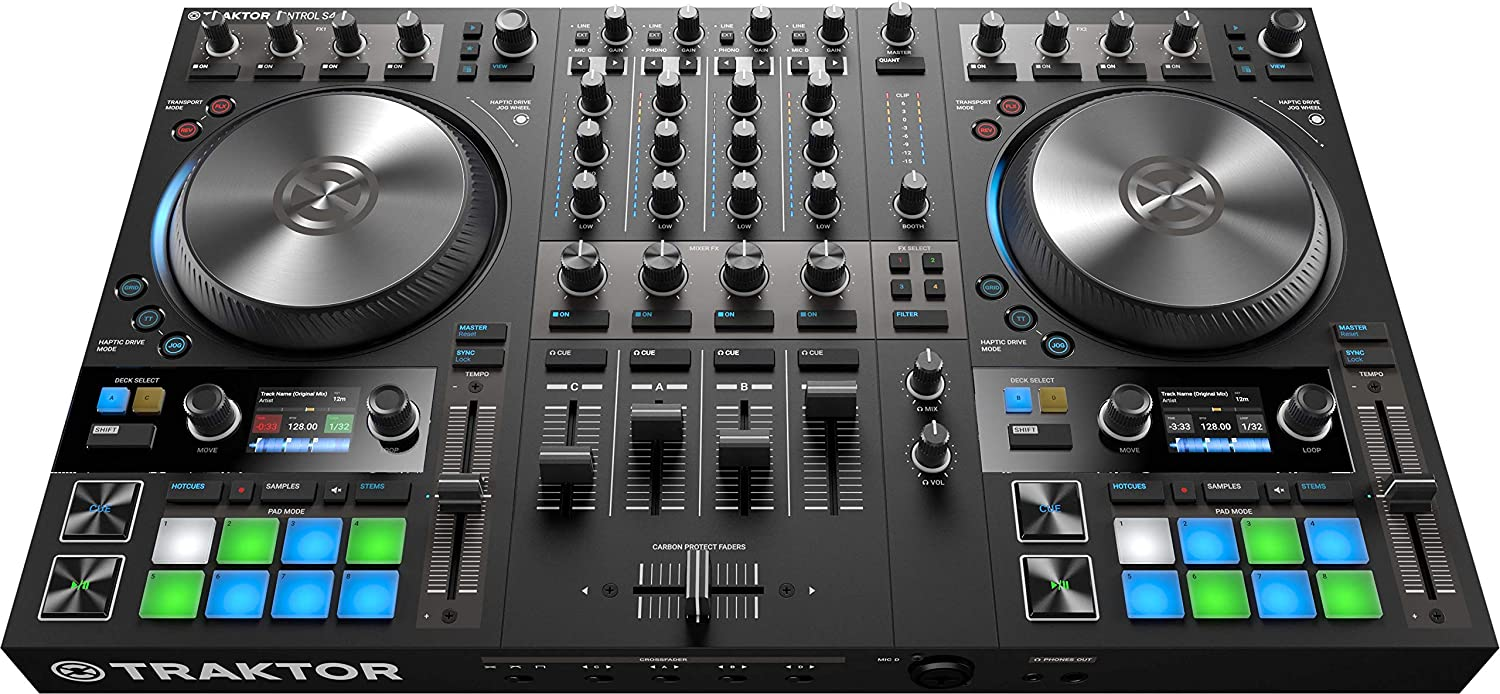 front facing Native Instruments Traktor Kontrol S4 Mk3