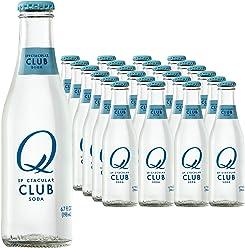 Q Drinks, Q Club, Spectacular Club Soda, Premium Mixer, 6.7 Ounce Bottle (Pack of 24)