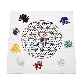 Amazon com: Top Plaza 7 Chakra Healing Crystals Grids Kit W/Amethyst