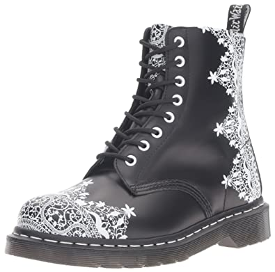 Dr. Martens Women's Pascal Lace Combat Boot, Black, 4 UK/6 M