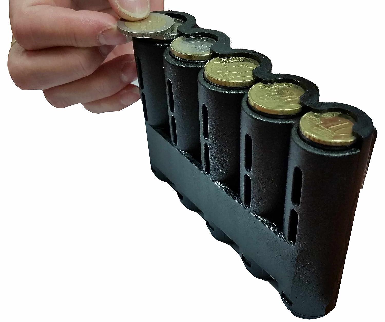 CLAIRE-FONCET Distributore portamonete 5 pezzi, Portamonete per i 5 tagli di moneta principale, Ideale per camerieri, Tassisti, Venditori ambulanti, Conducenti MONNAYEUR
