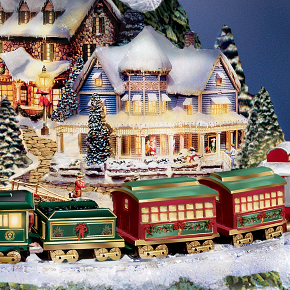 Thomas Kinkade Wonderland Express Animated Tabletop Christmas Tree With Train by Hawthorne Village by Hawthorne Village (Image #3)