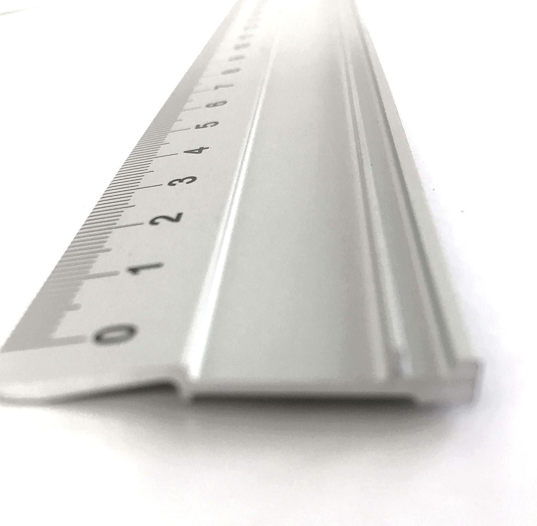 70cm Altera Aluminium Lineal rutschfest und mit Aufhängeloch im Etui verpackt