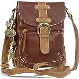 Catwalk Collection Leather Messenger Bag - Jodie