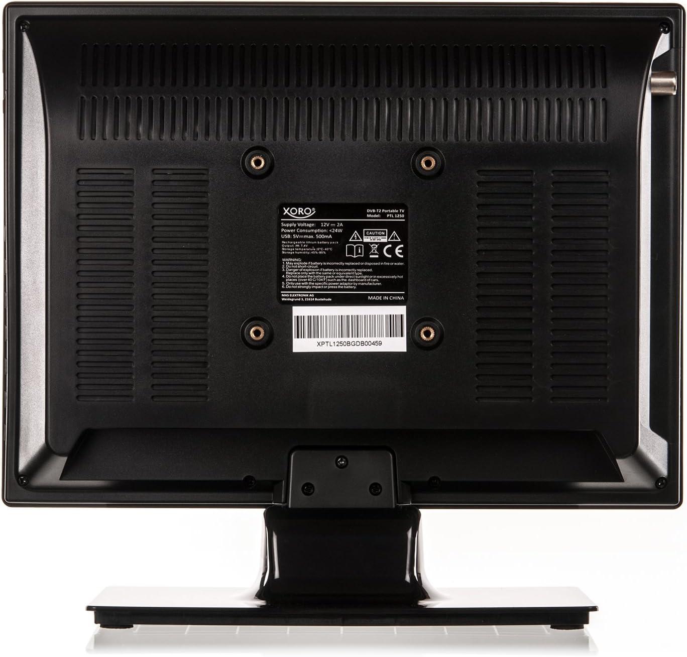Xoro PTL 1250 31.8 cm 12,5 DVB-T/T2 portabler TV: Amazon.es: Electrónica