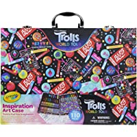 110-Pieces Crayola Trolls World Tour Inspiration Over Art Set
