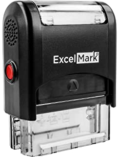eloria Checked Self Inking Rubber Stamp-Shiny S-842-Red Ink