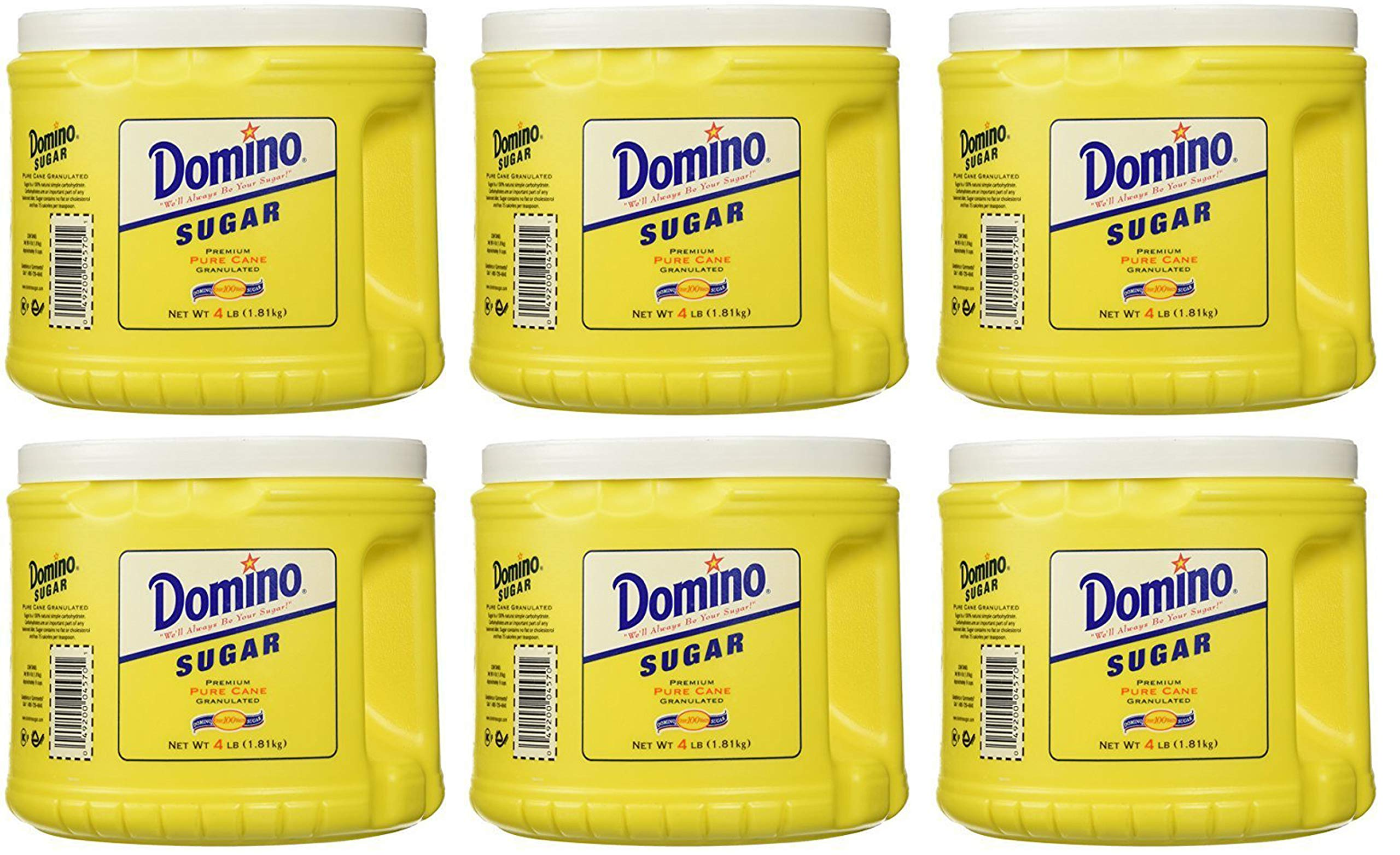 Domino HCHG Pure Cane Sugar 4lb 6 Pack