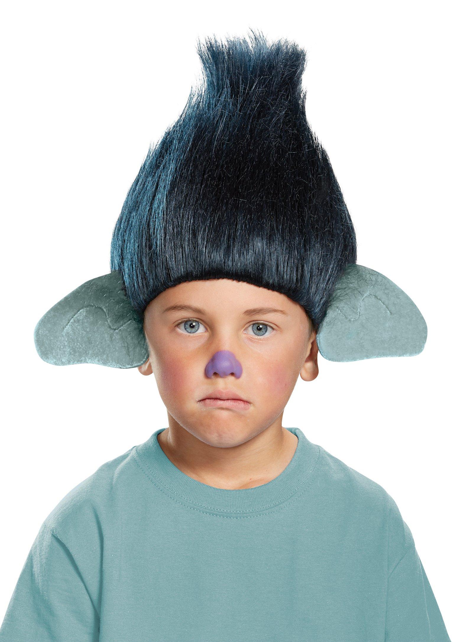 Branch Child Trolls Wig, One Size