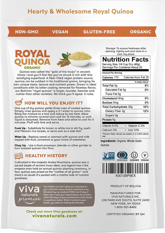Viva Naturals – La mejor quinua orgánica, 100% granos ...