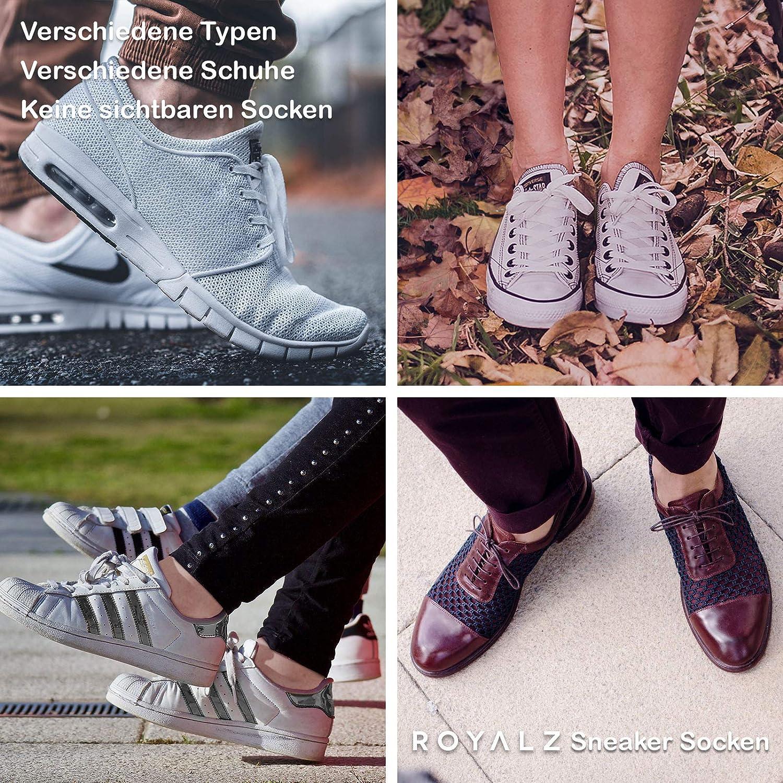 socquettes invisibles ROYALZ Chaussettes courtes 5 paires pour hommes et femmes confortables et modernes