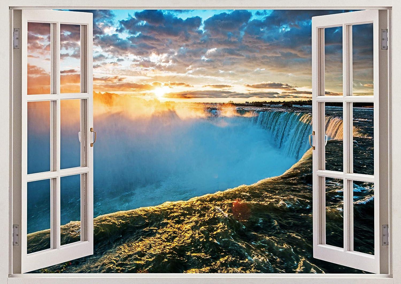 Fabulous Décor - Niagara Falls 3D Window View Wall Art Premium Vinyl Decal Sticker 17