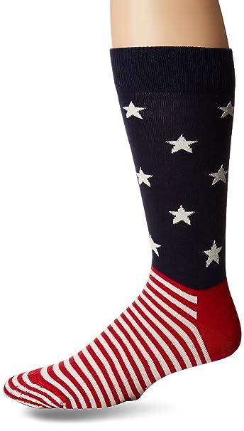 Happy Socks Mens Star Stripe Socks at Amazon Men s Clothing store  e5a24877fde
