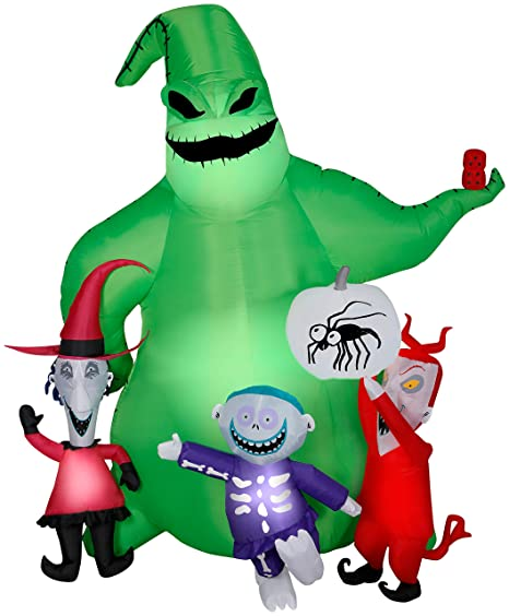 Gemmy Christmas Inflatables 2019.Gemmy Halloween Inflatable 7 Oogie Boogie Nightmare Before Christmas Scene Airblown Inflatable