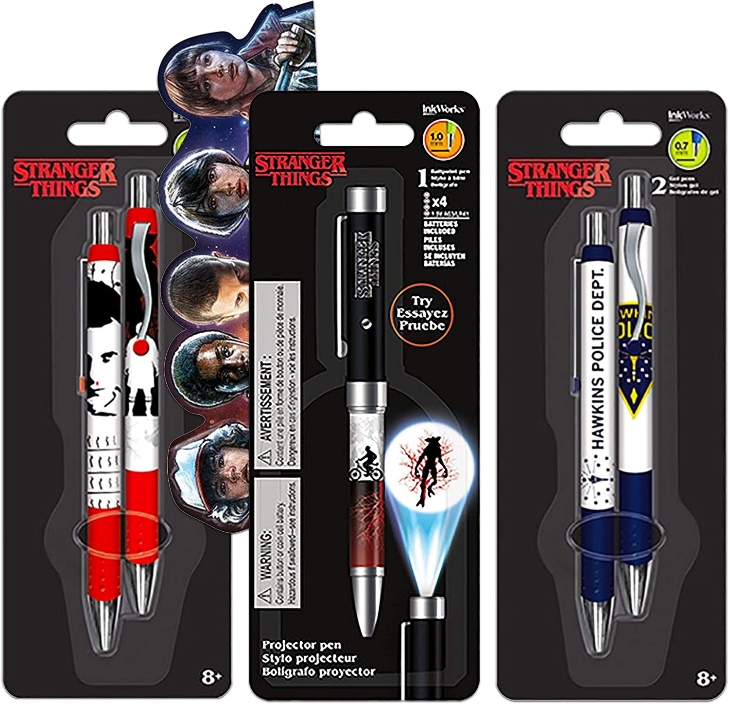 Stranger Things Pen Set Stranger Things School Supplies Bundle - 5 Pack Stranger Things Pens for Stranger Things Party Decorations (Stranger Things Office Decor)
