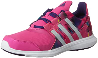 hot sales a9090 361aa adidas Girls Junior Girls Hyperfast 2.0 Trainers in Pink - UK 5