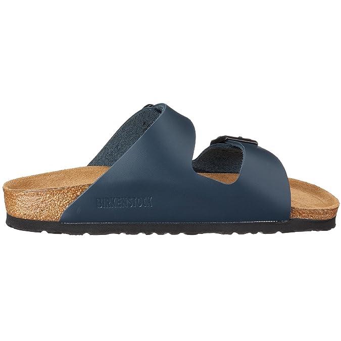 BIRKENSTOCK Classic Arizona Leder, Unisex-Erwachsene Pantoletten, Blau (Blau), 38 EU