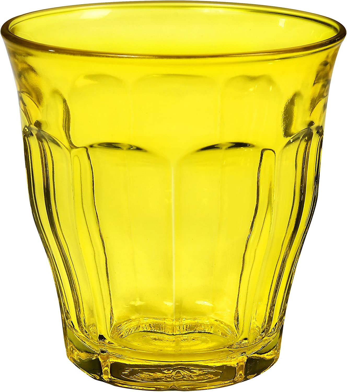 Duralex 1027SR06 Picardie – Juego de 6 Vasos de Cristal Amarillos 8,5 cm.: Amazon.es: Hogar