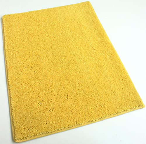 Koeckritz 5 x7 Sunny Dazy Yellow 25.5 oz 1 2 Thick Plush Cut Pile Indoor Carpet Area Rug