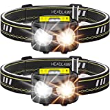 Rechargeable Headlamp, Bright 1000 lumen Headlight with Motion Sensor IPX5 Waterproof USB Rechargeable flashlight for…