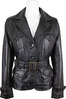 ca75ca532ad UNICORN Womens Fashion Leather Jacket Made With Brown Soft Touch Leather #EH