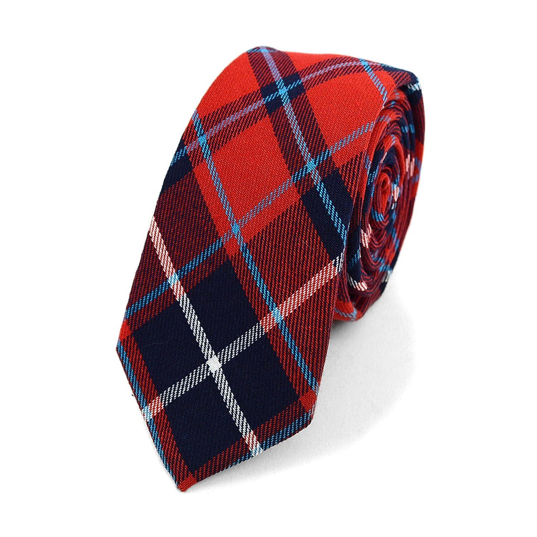 ceccb76f5e90 Slim Plaid Flannel Tie at Amazon Men's Clothing store: