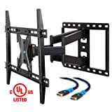 Mounting Dream MD2296 UL Certified TV Wall Mount Bracket for most 42-70 Inch LED, LCD and OLED Flat Screen TV, with Full Motion Swivel Articulating Arm, up to VESA 600 x 400mm and 100 lbs