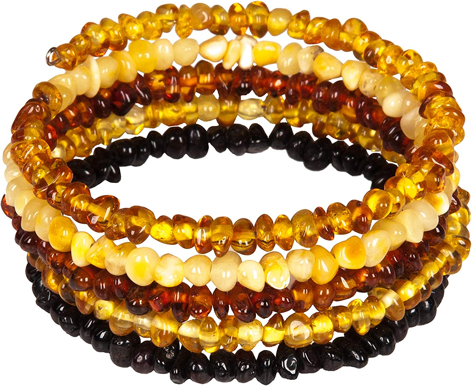 Natural Baltic Amber Bracelet for Adults - Hand made From Polished  /Certified Baltic Amber Beads(Multi): Amazon.ca: Jewelry