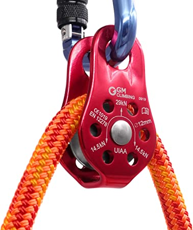 Climbing Pulley Universal Aluminum Alloy Fixed Mountaineering Rope Climbing Pulley Rescue Pulley for Rescue Rope Climbing Aloft Work