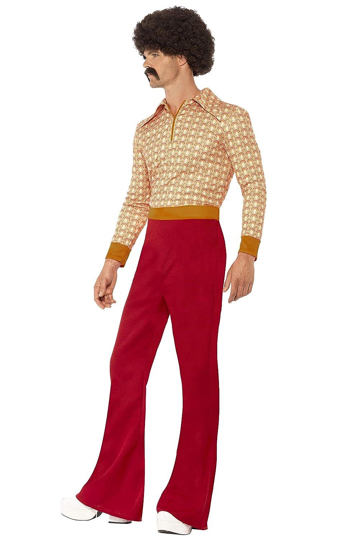 con Top e Pantaloni a Vita Alta Smiffys Costume Ragazzo Anni 70