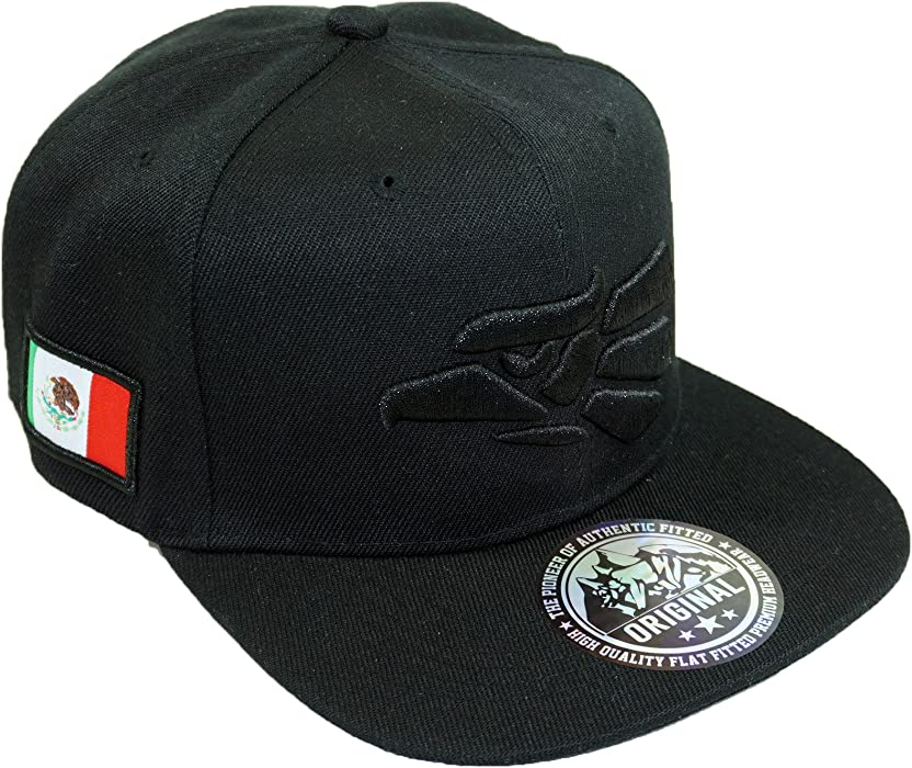 Mexico Eagle Embroidery Hat Adjustable Mexican Flag Baseball Cap (Black01) 0d96356cc41