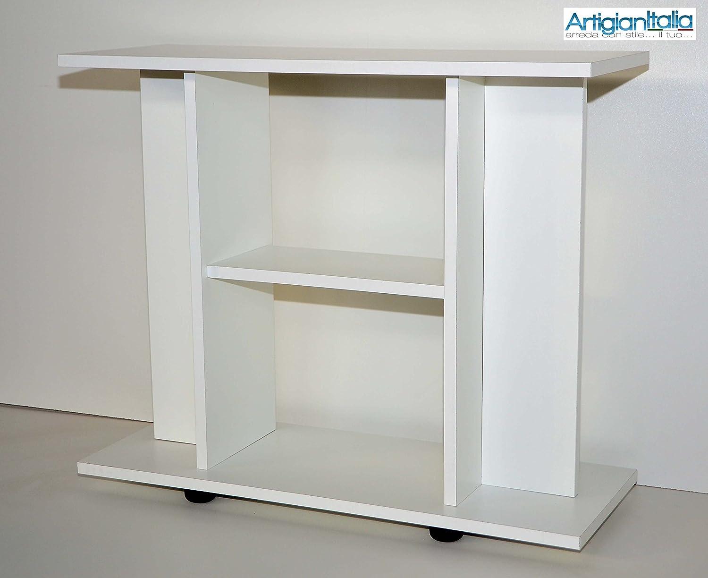 mtb - Mueble para televisor con Ruedas (100 x 30 x H66 cm) Color Blanco: Amazon.es: Hogar