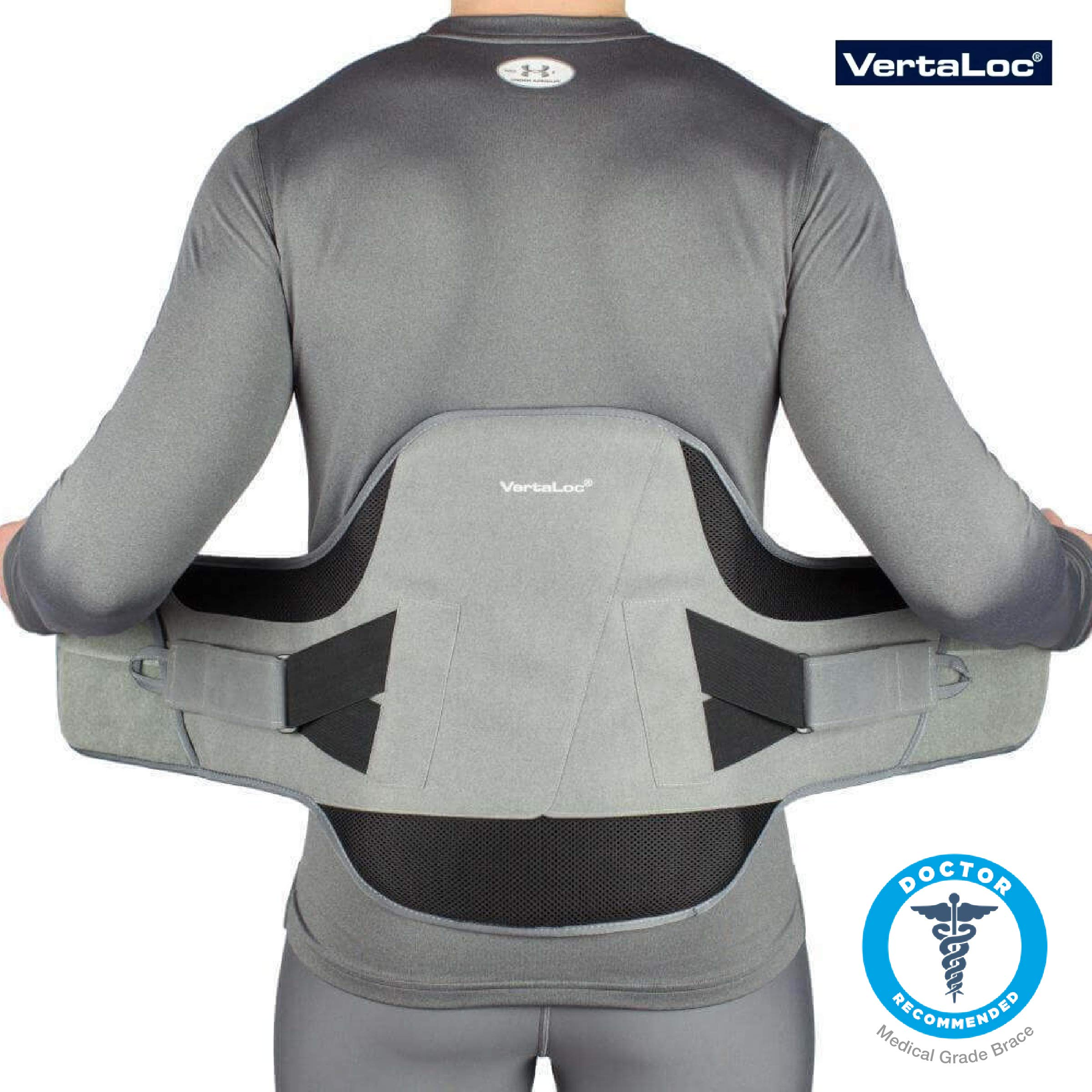 VertaLoc Flex FIT Medical Grade Back Brace and Support for Lower Back Pain - Extra Large by VERTALOC, INC. (Image #1)