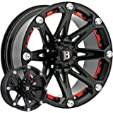 Ballistic Jester 17x9 Black Wheel / Rim 6x5.5 with a -12mm Offset and a 110.00 Hub Bore. Partnumber 814790655-12FB