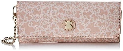 Tous Kaos Mini Lona, Cartera para Mujer, Rosa (Pink), 2x10x22 cm