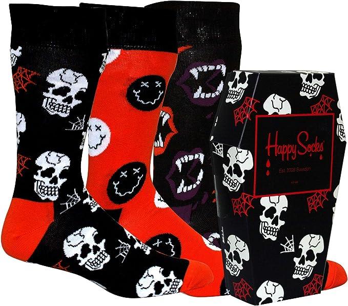 Happy Socks Calcetines Unisexo Halloween Gift Box (3 pairs) 41-46 ...