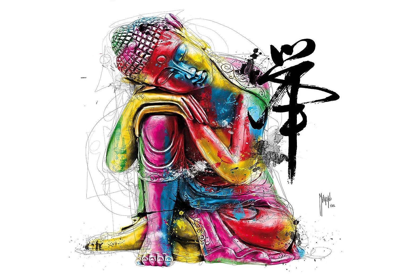 1 Wall Patrice Murciano Colourful Buda No Tejido para Pegar en la Pared Mural, Madera,, 3,6 x 2,53 M 6x 2 53M SHH Interiors NW8P-BOUDDHA-001