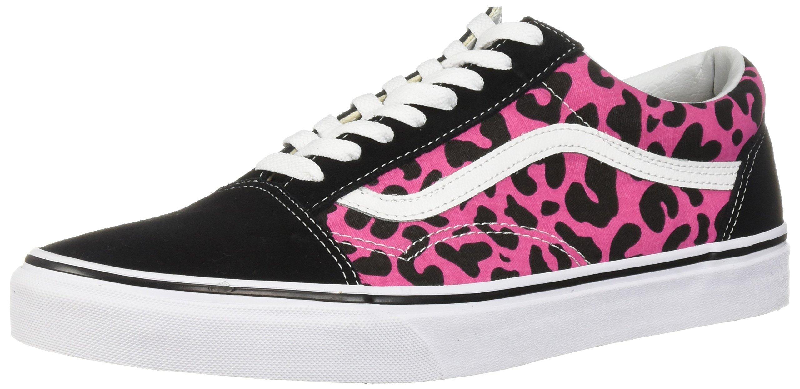 top fashion enjoy big discount detailed look Vans Old Skool Leopard Pink/Black Men's Classic Skate Shoes Size 10.5