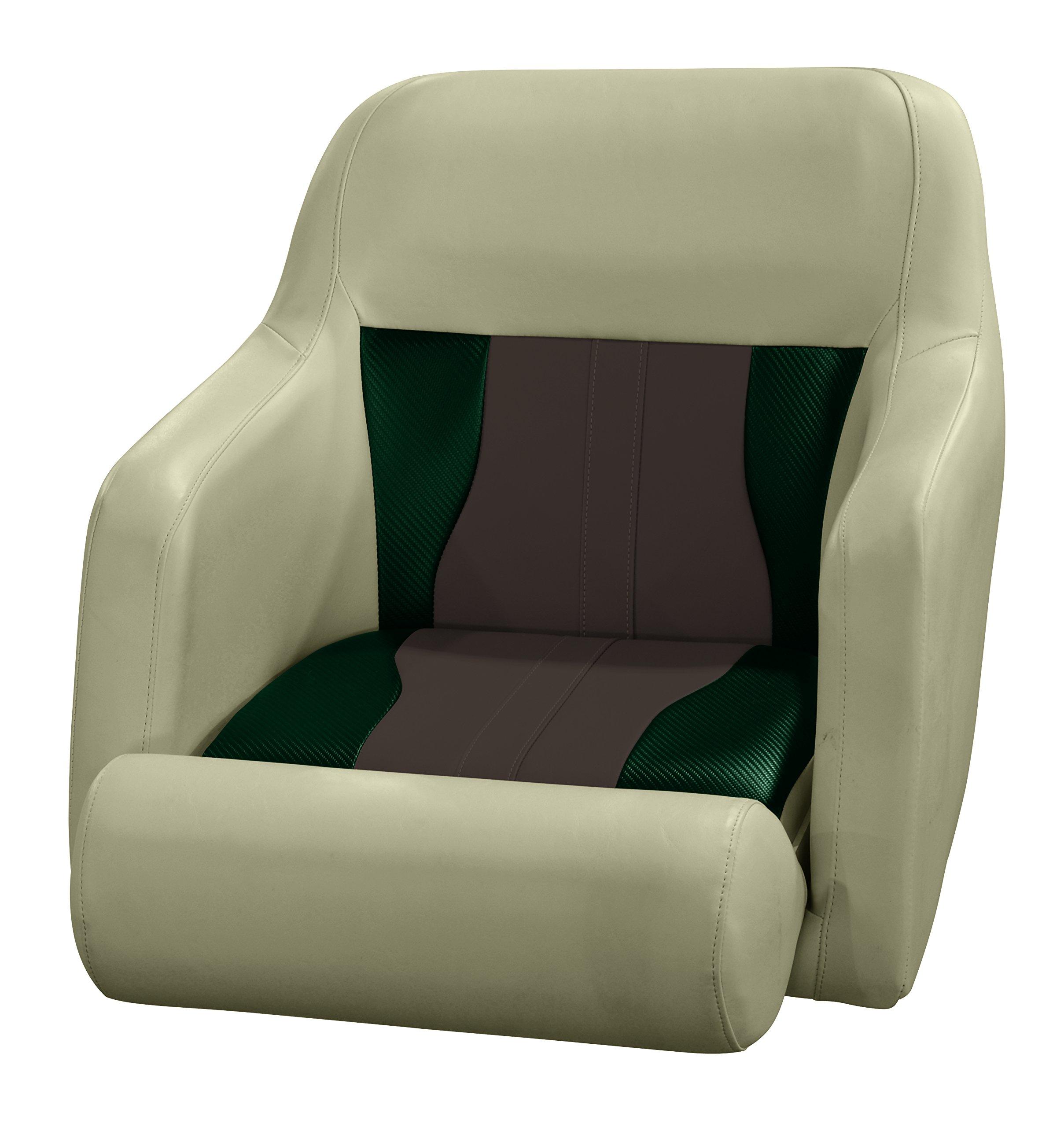 Wise 3012-1807 Mocha Java, Rock Salt, Evergreen Carbon Fiber Talon Bolster Bucket Helm Seat, Mocha Java-Rock Salt-Evergreen Carbon by Wise