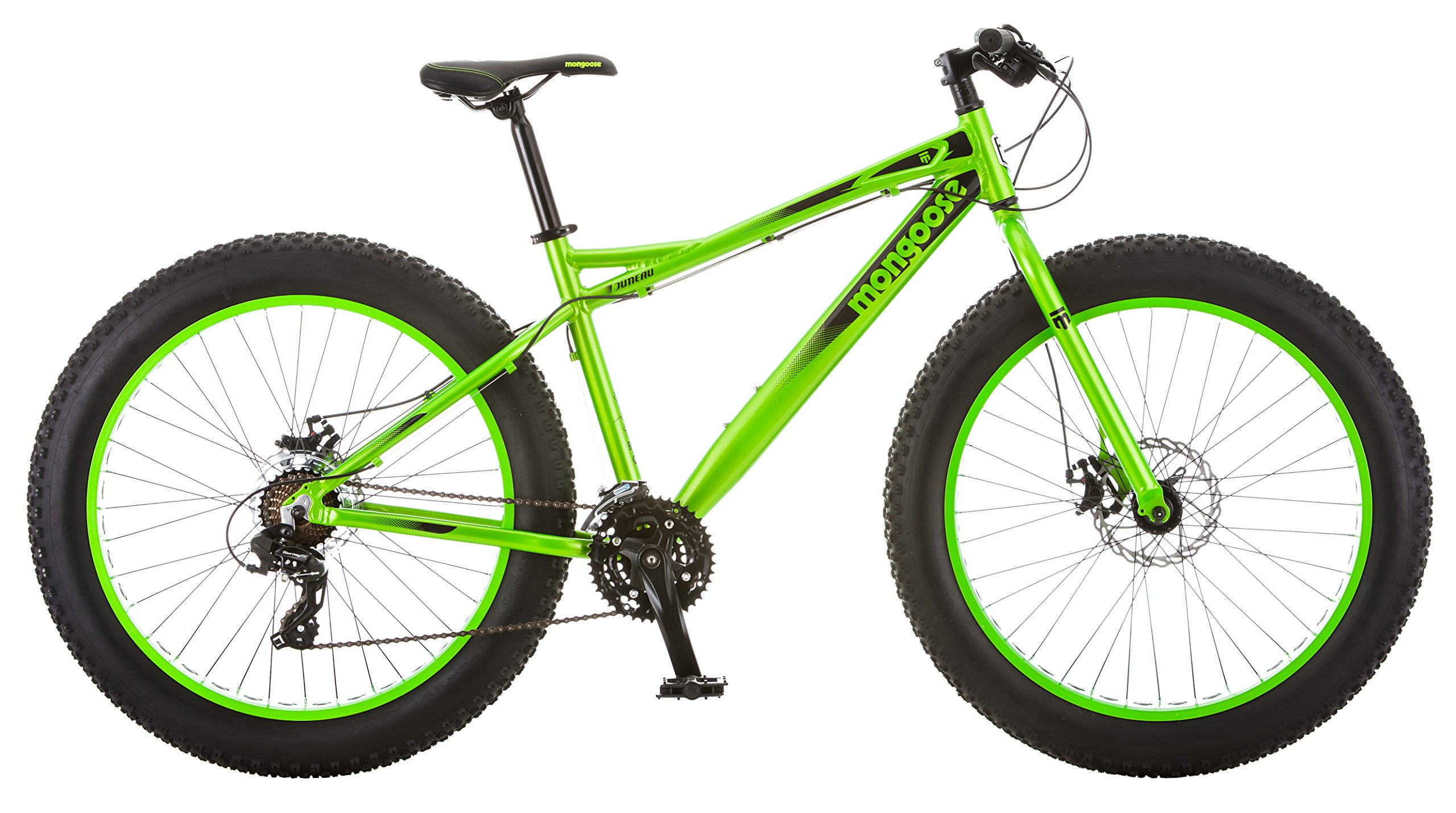 Mongoose Juneau 26'' Fat Tire Bicycle Green, Medium Frame Size