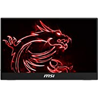 MSI Frameless Bezel Glass Surface 1920 X 1080 USB/HDMI Smart Cover Included IPS Portable Monitor (Optix MAG161V),Black