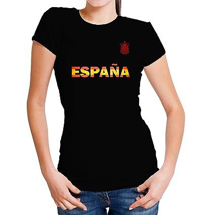 Lolapix Camiseta España Negra Personalizada con Nombre y número. Camiseta de algodón. Regalo para