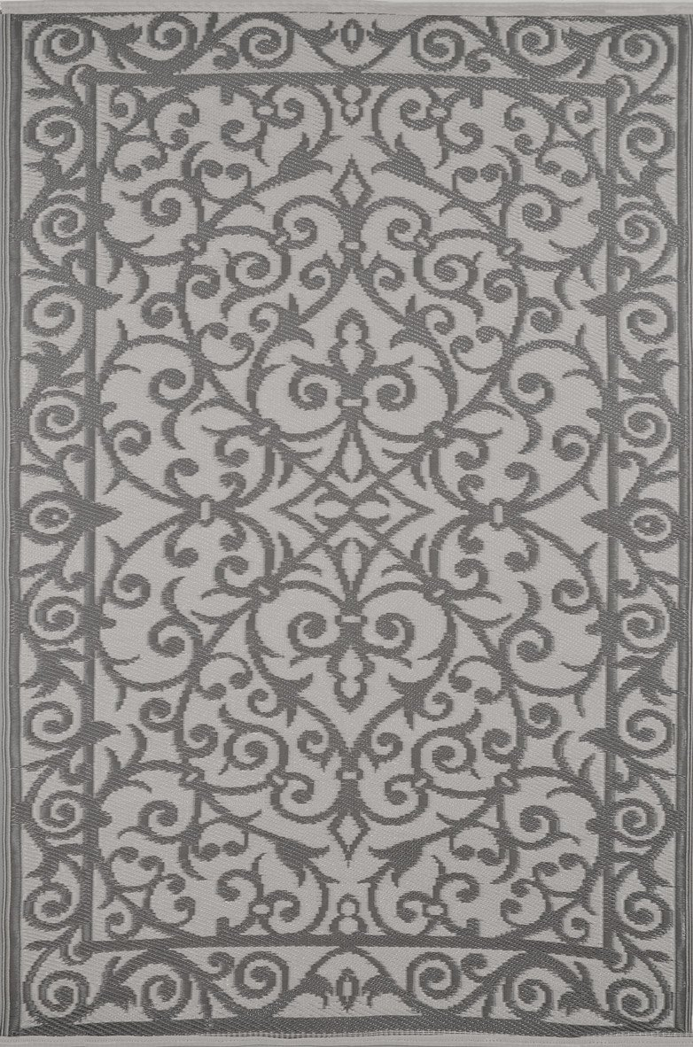 Lightweight Indoor Outdoor Mold resistant, Suitable for hot decks, UV proof, Snow proof, Plastic Gala Rug (5 x 8, Taupe Grey/Cream) by Green Decore