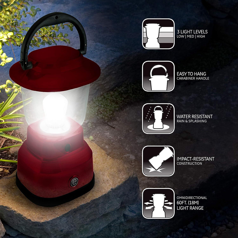 USB Charging Carabiner Handle Storm 800 Lumens Hiking Gear Emergency Light Hurricane 49550 200 Hour Runtime Green Battery Powered Enbrighten LED Camping Lantern Blackout
