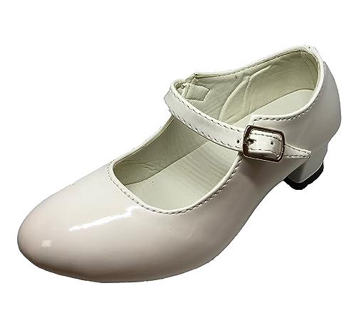 ventas al por mayor clientes primero calidad primero Zapato Flamenco Danza Baile Sevillanas niña Mujer Negro Blanco
