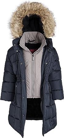 Amazon.com: Weatherproof Little Girl Down Alternative Hooded Winter Fleece  Lined Puffer Coat: Clothing