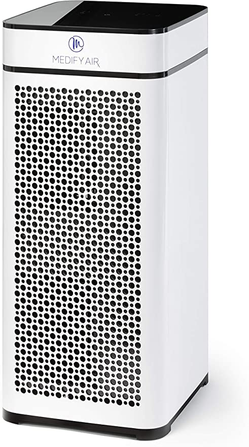 Medify MA-40W V2.0 Medical Grade Filtration H13 True HEPA for 840 Sq. Ft. Air Purifier, 99.97% | Modern Design - White
